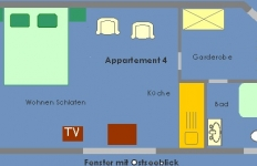 Grundriss Appartement 4
