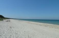 der FKK Strand bei Glowe