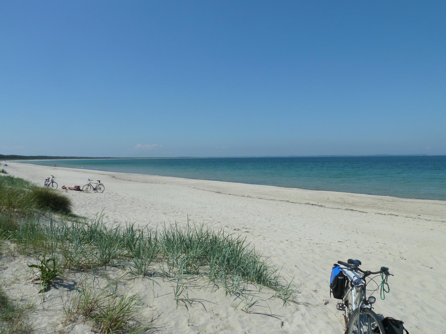 Der Strand von Glowe direkt vor ihrer Haustüre